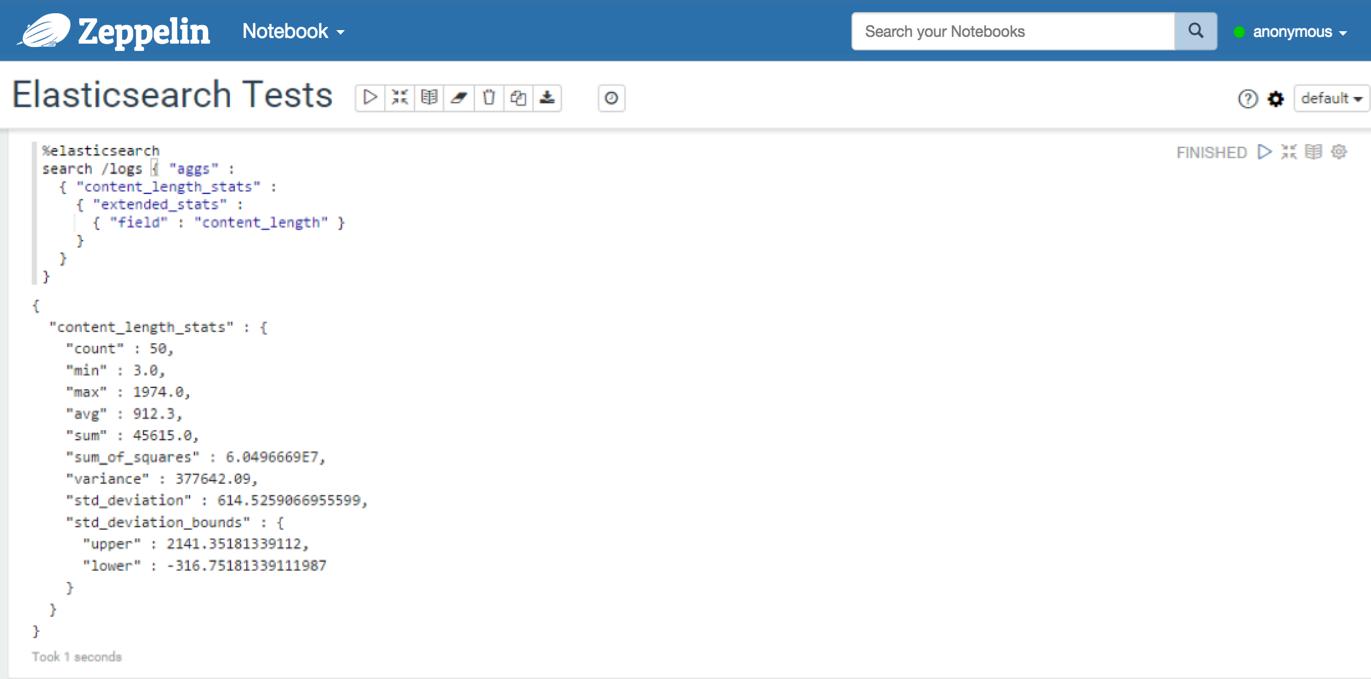 Apache Zeppelin 0 7 0 Documentation: Elasticsearch