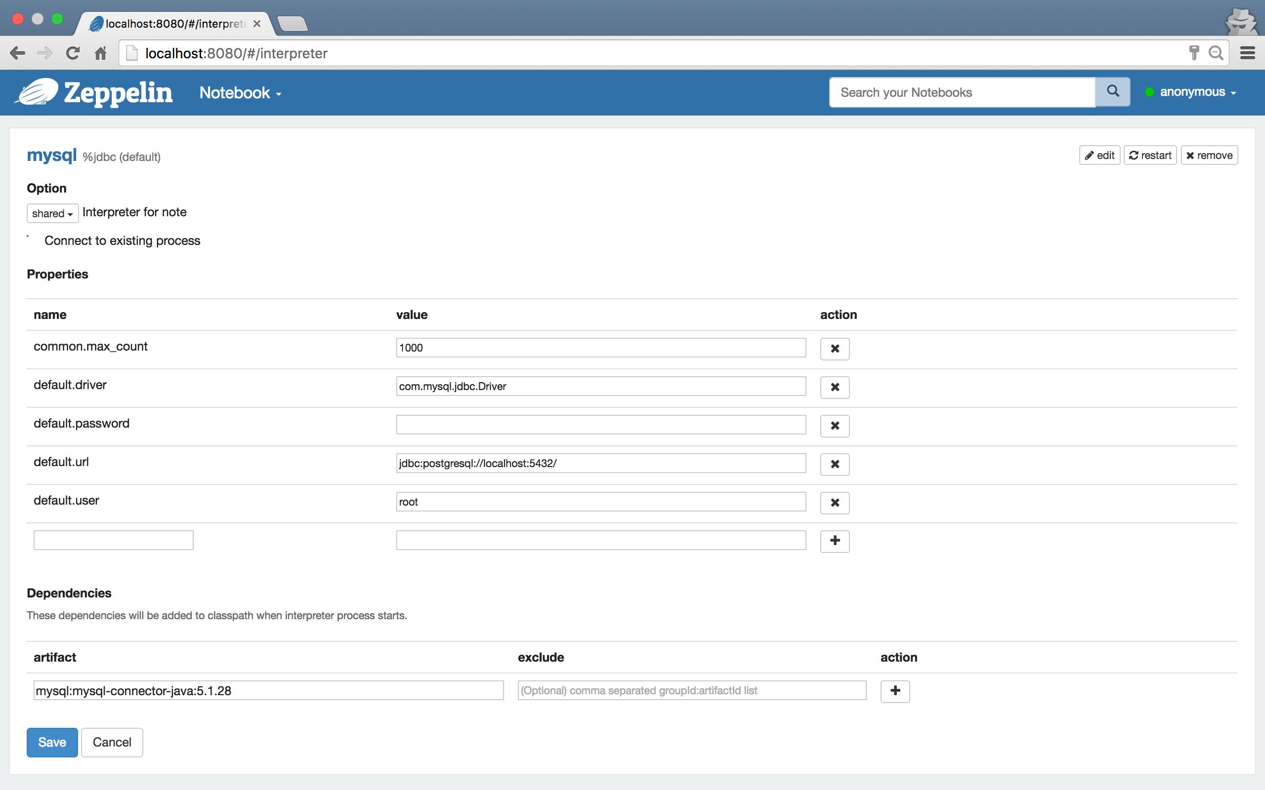 Apache Zeppelin 0 7 2 Documentation: Dependency Management